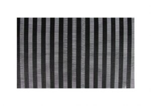 Wilkie Brothers Placemat Vertical Stripe Black
