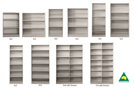 BUDGET BOOKCASE 6x4 DIVISIONS
