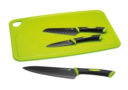 Scanpan Spectrum 4 Piece Cutting Set - Black/Grey