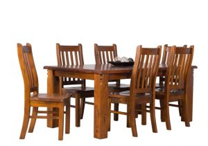 FITZROY 7 PCE DINING SUITE 1800LX1050W RUSTIC