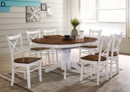 5PCE COASTAL EXTENSION DINING SETTING