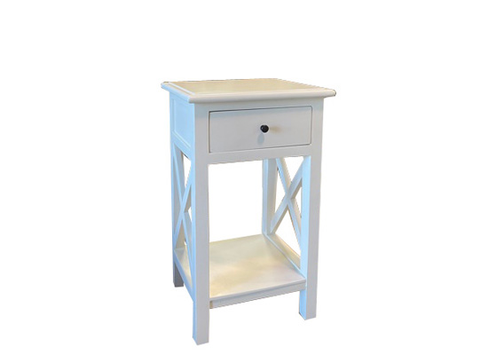 CROSS ACCENT TABLE 1 DRAWER