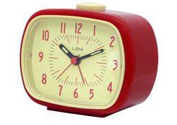 ALARM CLOCK LENI RETRO RED