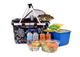 Shop & Go Insulated Carry Basket Camelia Black