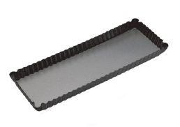 Bakemaster Loose Base Fluted Rectangular Flan/Quiche Pan 36 x 13 x 3.5cm - N/S