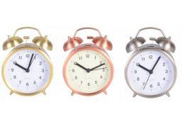 Alarm Clock Brushed Metallic Finish