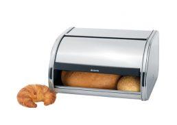 Brabantia Bread Bin Rolltop Regular34.5 x 27.5 x 17.8cm - Matt Steel
