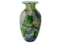 Coloured Glass Vase - Ebru 18x18x32cm