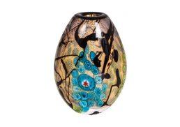 Coloured Glass Vase - Mangrove 12x6x18cm