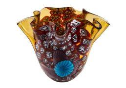Coloured Glass Vase - Verona 30x27x24cm