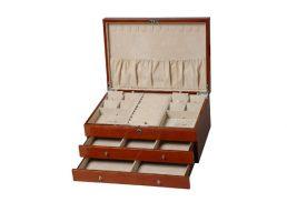 Jewellery Box 2Drawer Walnut HR RB214W