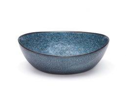 Salt & Pepper Nomad Bowl Blue Crackle 20X6.5CM