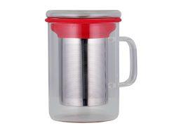 Avanti Tea Mug With Infuser 350ml Red