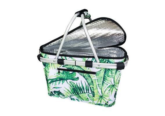 Carry Basket Sachi Insulated w Lid Jungle Leaf