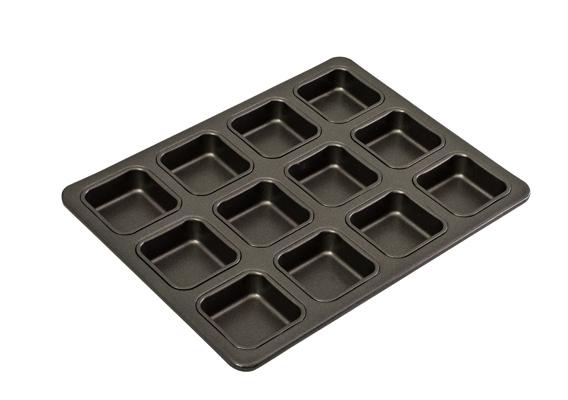 Bakemaster 12Cup Square Brownie Pan 34X26CM