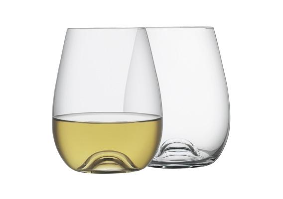 Classic Set of 6 Stemless Wine Glasses 460ml