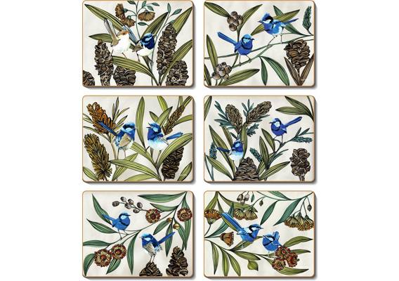 Cinnamon - Blue Wren Placemats & Coasters
