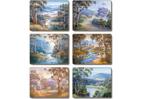 Cinnamon - Bradley's Stream Placemats & Coasters