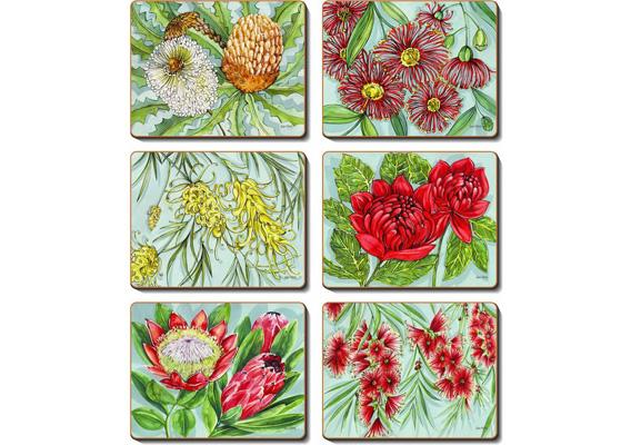Cinnamon - Bush Blooms Placemats & Coasters