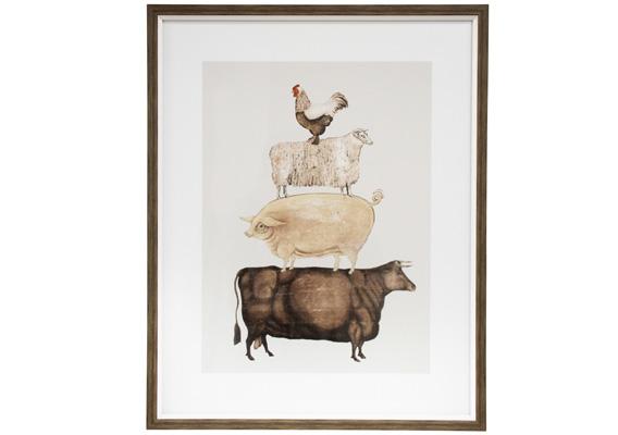 Wall Art - Framed Print Animal Stack
