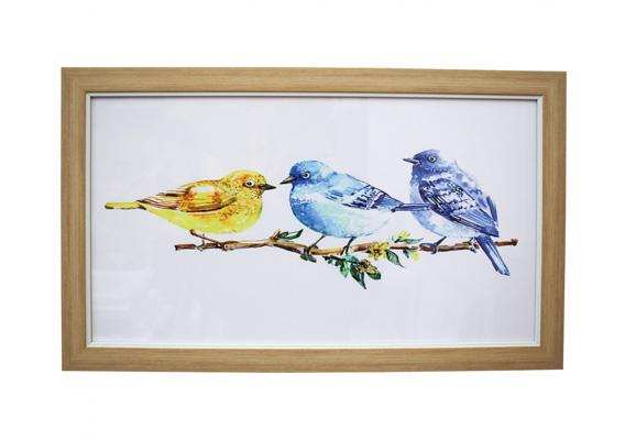 Wall Art - Framed Print Spring Birds