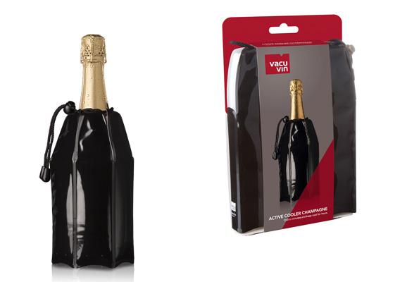 Vacu Vin - Active Cooler Champagne Black